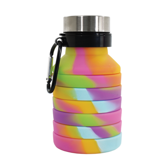 Iscream Tie Dye Collapsible Water Bottle