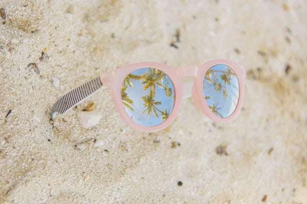 Snapper Rock Candy Pink Stripe Round Sunnies