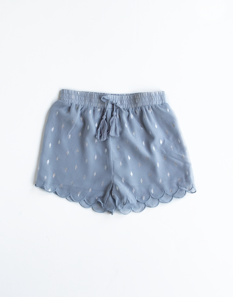 Billie Blush Royal Blue Woven Shorts