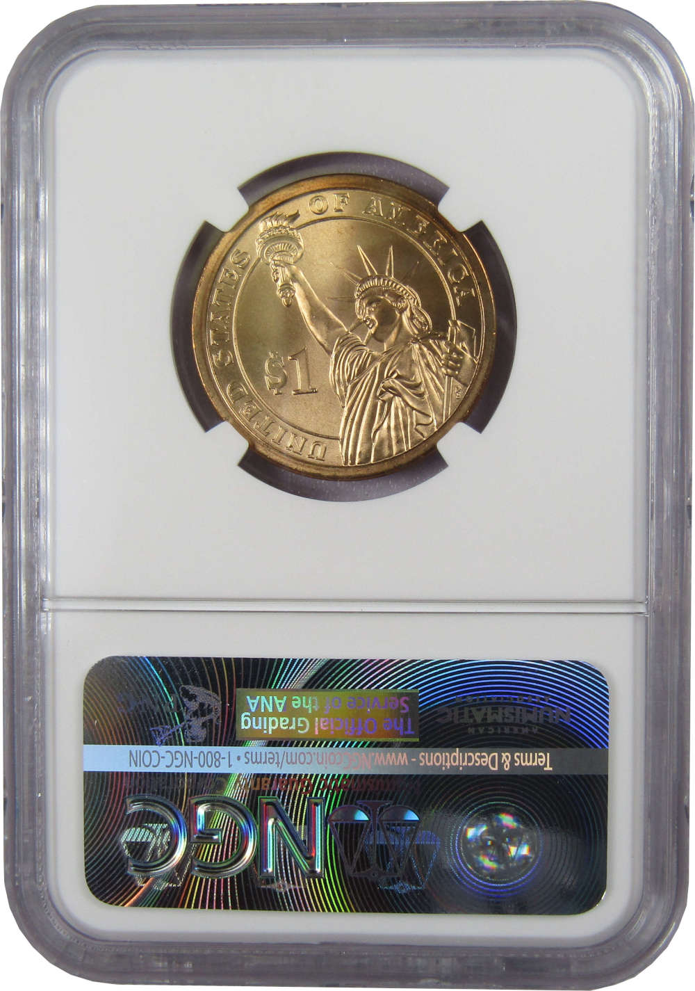 2008 $1 Andrew Jackson Presidential Dollar Uncirculated Missing Edge Lettering
