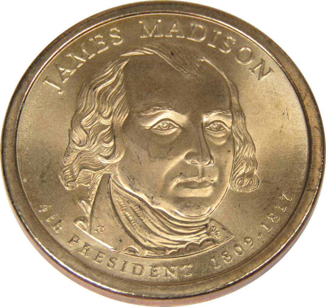 2007-D $1 James Madison Presidential Dollar BU