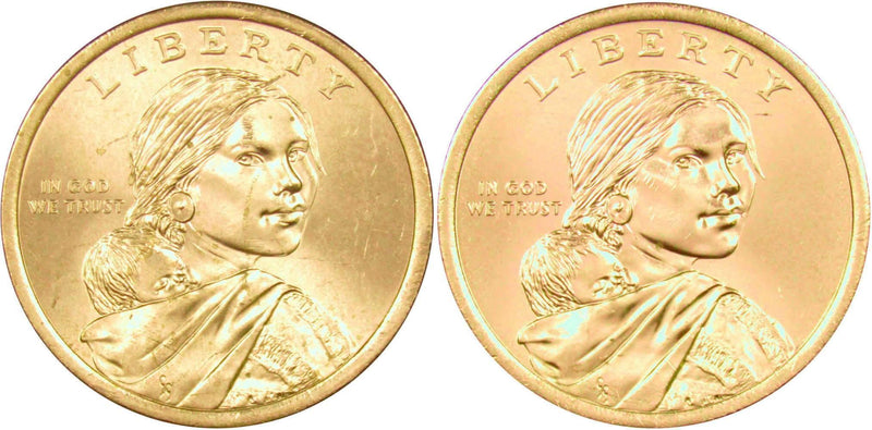 2015 P/&D SET NATIVE AMERICAN SACAGAWEA DOLLARS FROM MINT ROLLS UNCIRCULATED