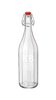 Botella Flip Top Transparente 1 Lt.