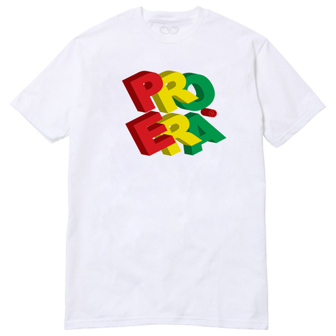 "Pro Era ""3D Bubble"" Logo Tee (White)"