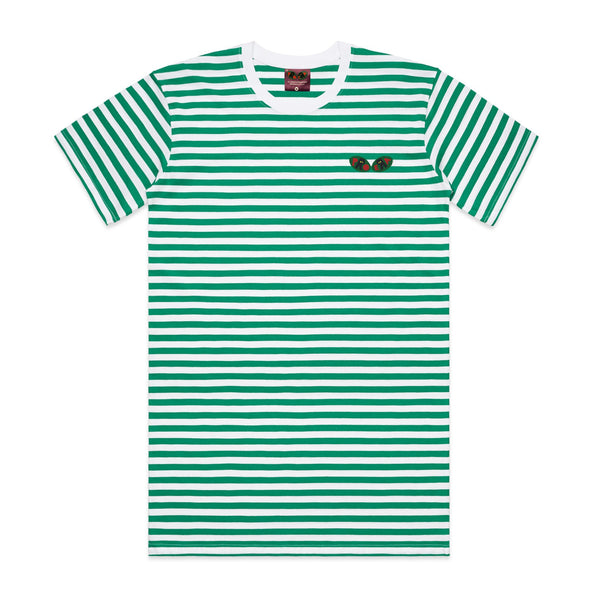 Striped Logo Tee (Green)