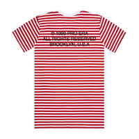 Striped Logo Tee (Red)