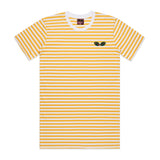 Striped Logo Tee (Yellow)