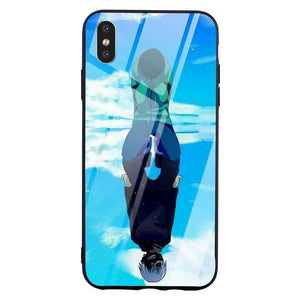 Kaneki Mirror Tempered Glass iPhone Case