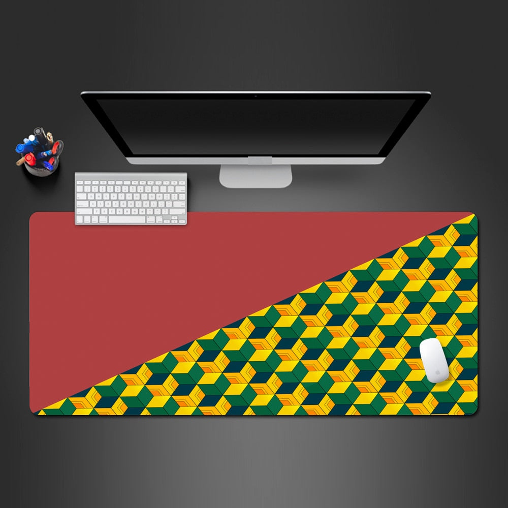 Giyuu Tomioka Pattern Extended Mouse Pad