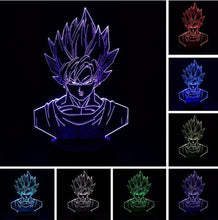 Load image into Gallery viewer, Goku Portrait 3D LED Light
