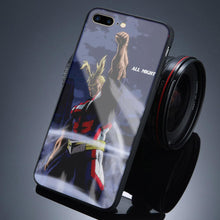Load image into Gallery viewer, All Might Tempered Glass iPhone Case