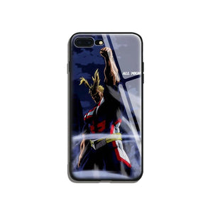 All Might Tempered Glass iPhone Case