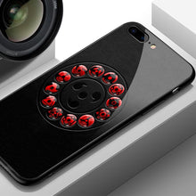 Load image into Gallery viewer, Ring of Sharingans Tempered Glass iPhone Case