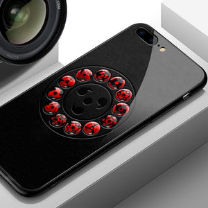 Ring of Sharingans Tempered Glass iPhone Case