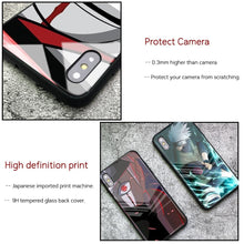 Load image into Gallery viewer, Kakashi Sharingan Tempered Glass iPhone Case