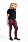 Color Block Double Stripe Jogger - Jamber