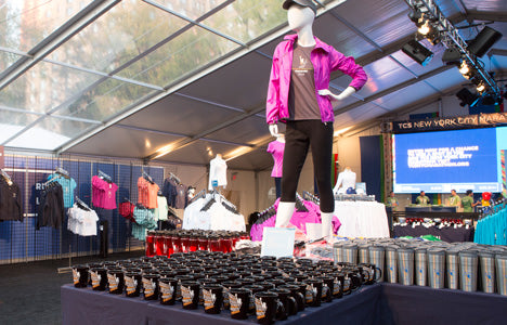 TCS NYC Marathon Finisher Merchandise Pop-up Tent Online Store