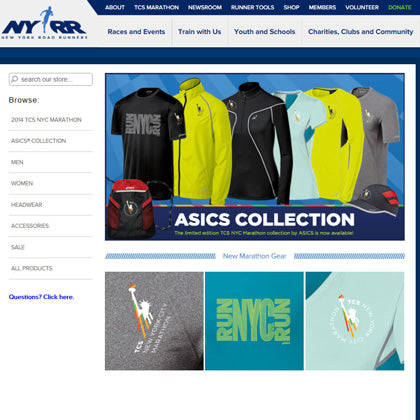 NYRR NYC Marathon eCommerce Website Design Sales Fulfillment