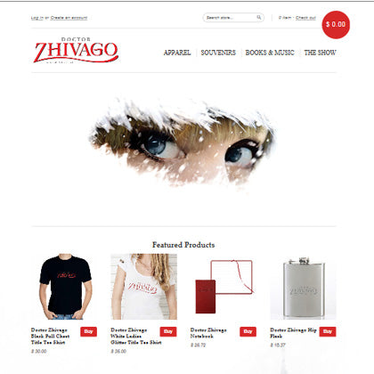 Doctor Zhivago On-site Venue Online Design Build Sales Fulfillment