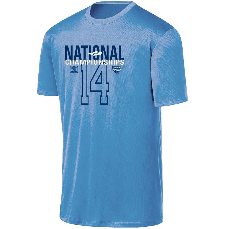 USTA LEAGUES 2014 National Championships Men's Carolina Blue Short Sleeve Performance Tee