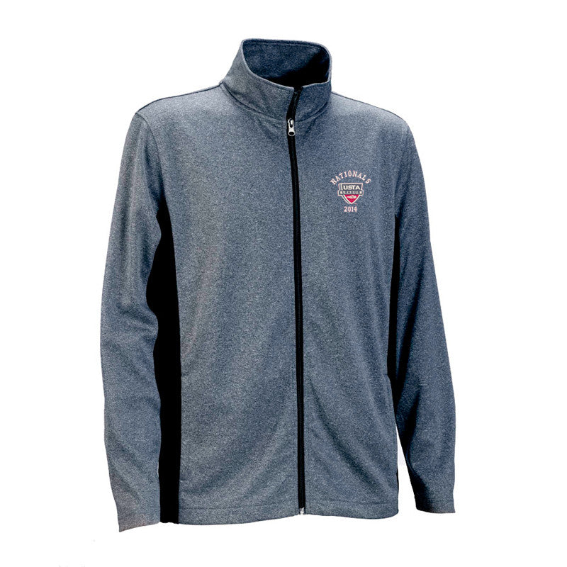 USTA LEAGUES 2014 National Championships Men's Heather Vansport Blocked Knit Speed Logo Performance Jacket