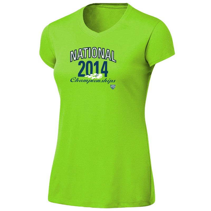 USTA LEAGUES 2014 National Championships Women's Citron Short Sleeve Performance Tee
