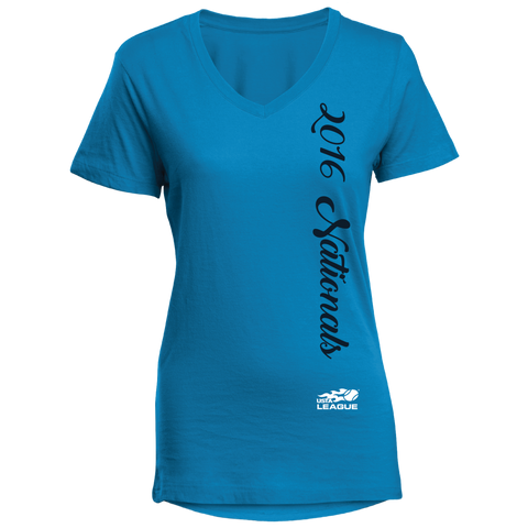 USTA LEAGUES 2016 National Championships Women's Malibu Diva V-neck Short Sleeve Tee
