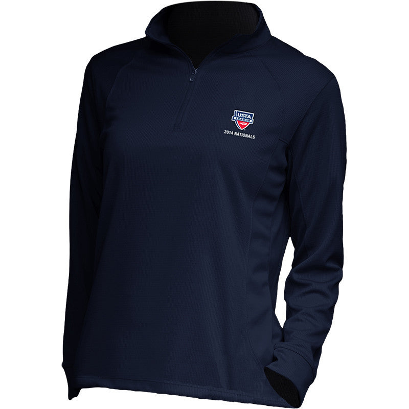 USTA LEAGUES 2014 National Championships Women's E-S Tech Half Zip Performance Pullover