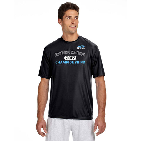 USTA Eastern 2017 Championships Men's Black Short Sleeve Performance Tee