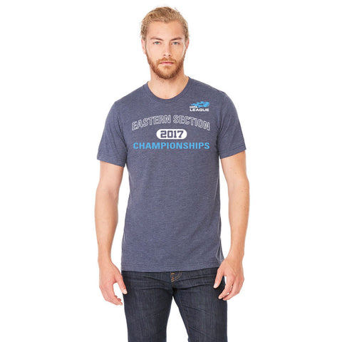 USTA Eastern 2017 Championships Men's Blue Short Sleeve Cotton Tee