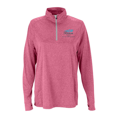 USTA Eastern 2017 Championships Women's Berry Vansport Melange 1/4 Zip Tech Pullover