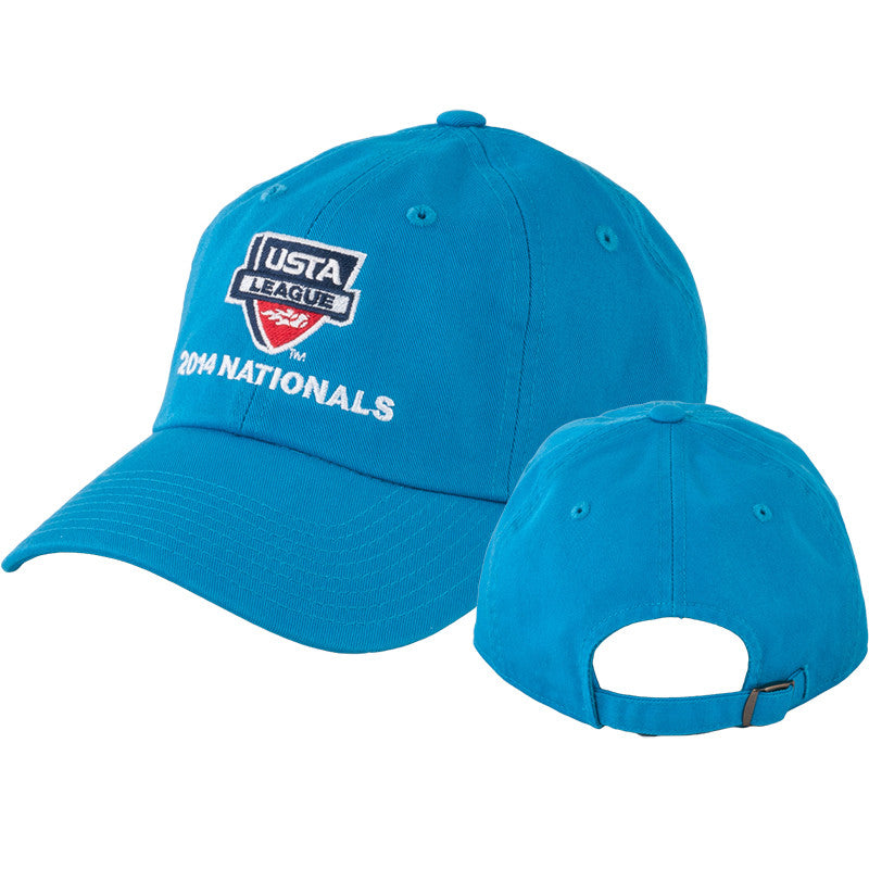 USTA LEAGUES 2014 National Championships Pro Blue Slouch Hat