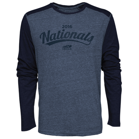 USTA LEAGUES 2016 Championships Men's Marine Blue Long Sleeve Metro Cotton Tee