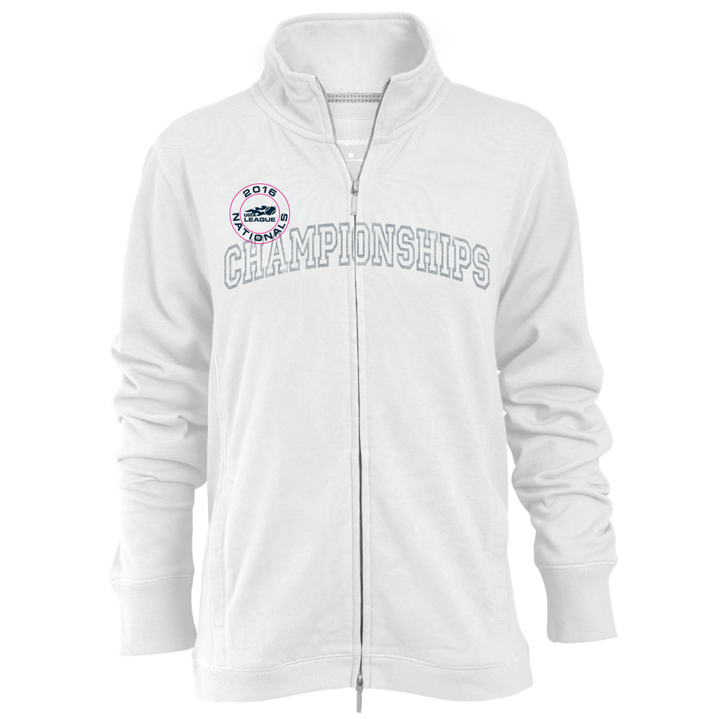 USTA LEAGUES 2016 National Championships Women's White Relaxed Fit Fleece Full-Zip Jacket