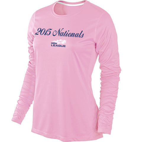 USTA LEAGUES 2015 National Championships Women's Pink Long Sleeve Performance Tee