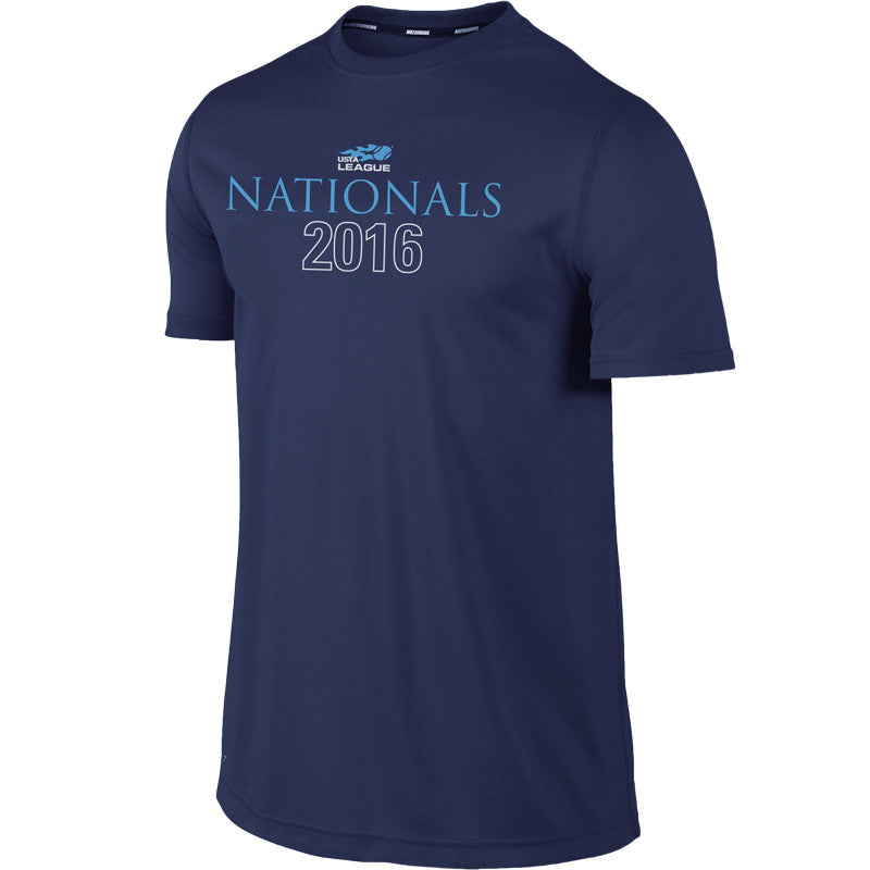 USTA LEAGUES 2016 National Championships Men's Navy Short Sleeve Performance Tee