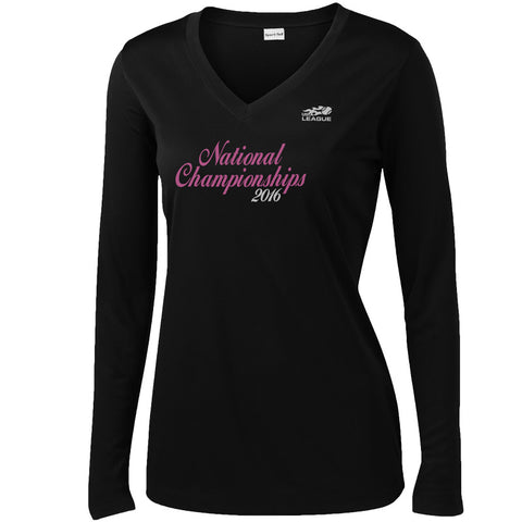 USTA LEAGUES 2016 National Championships Women's Black Long Sleeve Performance Tee
