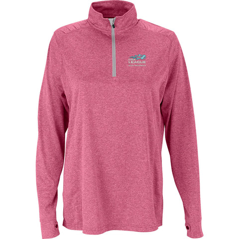 USTA LEAGUES 2016 National Championships Women's Pink Melange Vansport Quarter Zip Tech Pullover