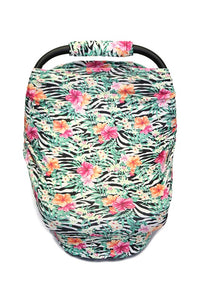 CANOPY COVER WITH ZEBRA & EXOTIC FLOWER PRINTED.  CZ-DLH3055K