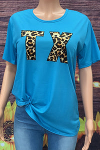 HX4524 TX PRINTED IN LEOPARD COLOR WOMEN TOP