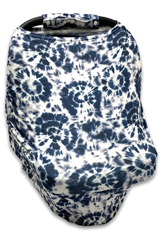 NAVY BLUE  TIE DYE PRINTED CANOPY COVER.  CZ-DLH1855K