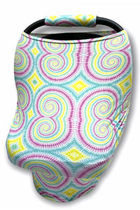 SWIRL  PRINTED CAR SEAT COVER. CZ-DLH1832K