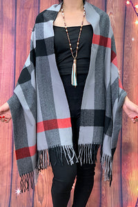 YL5712 Multi color scarf with fringe