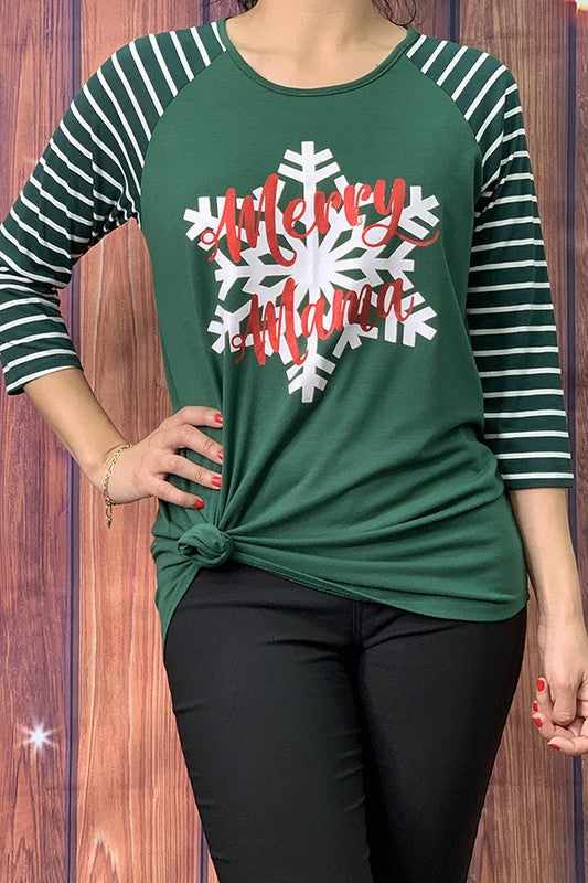 HX5956 ''Marry mama'' green graphic t-shirt FINAL SALE