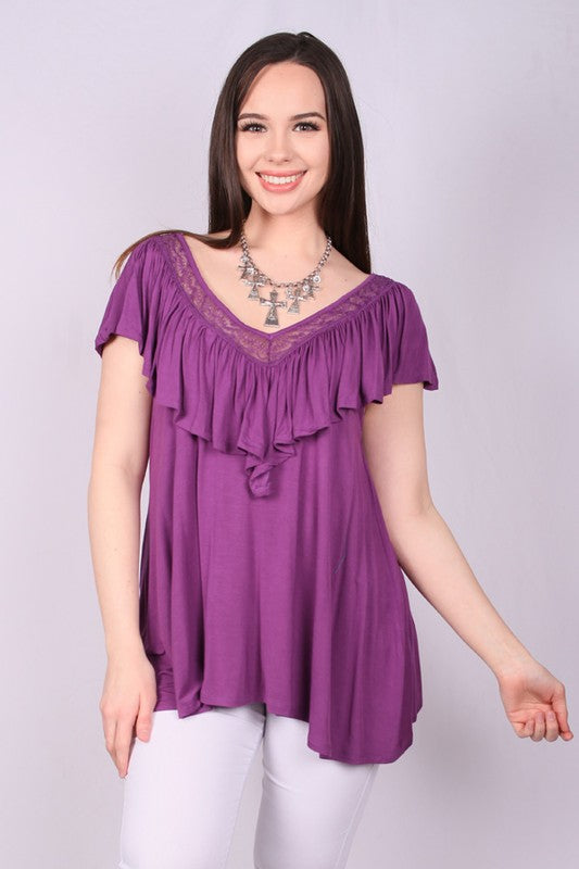 HX2934-1 Sleeveless top-purple color