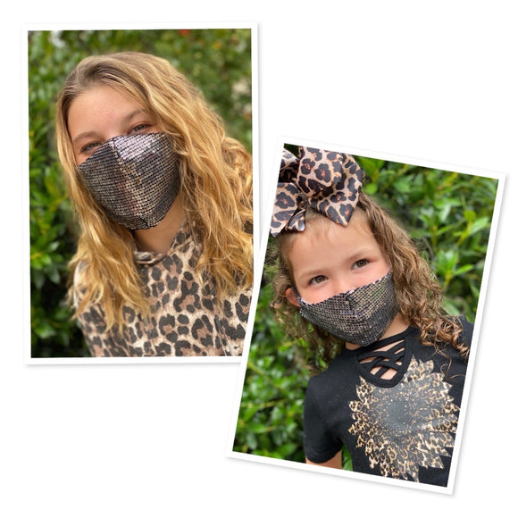 Mommy and me sequins face masks  FM-2022-7