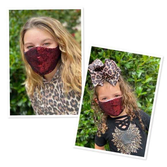 Mommy and me sequins face masks FM-2022-3