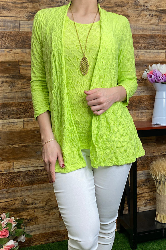 CA31SS-ISLAND-GREEN Tank top and cardigan set
