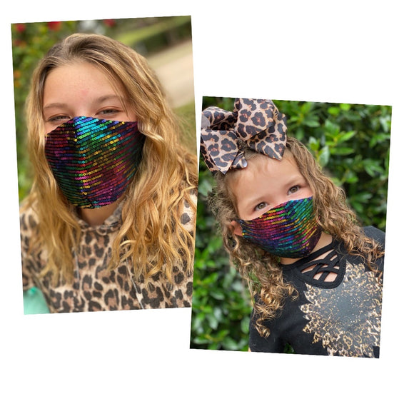 Mommy and me sequins face masks FM-2022