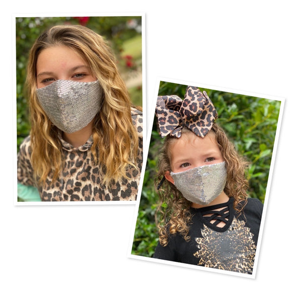 Mommy and me sequins face masks FM-2022-1